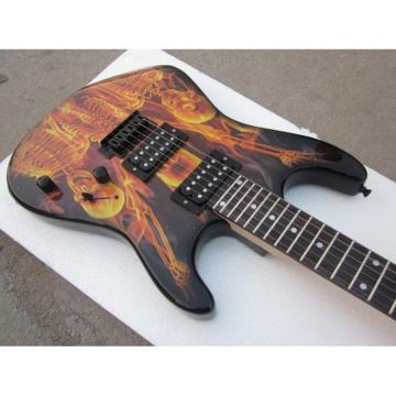 Custom Made ESP Skull Flame Skeleton Graphic Electric Guitar