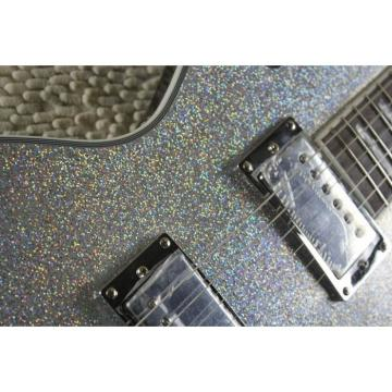 Custom LTD Deluxe ESP Silver Dust Electric Guitar