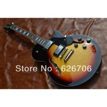 Custom LP Tobaccoburst Fhole Electric Guitar
