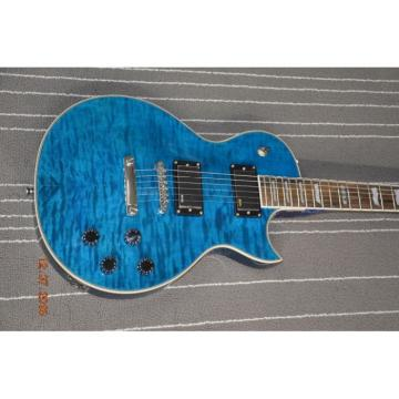 Custom LTD Deluxe ESP Eclipse Blue Quilted Maple Electric Guitar