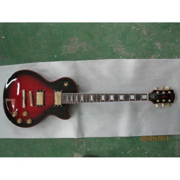 Custom LP Red Binding Electric Guitar Widow Burst