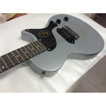 Custom LP  Billie Joe Armstrong Signature Metallic Silver Gray Junior Electric Guitar