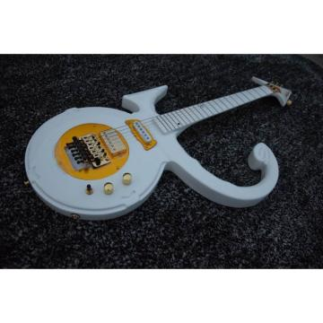Custom Left/Right Handed Option Prince 6 String Love White Electric Guitar