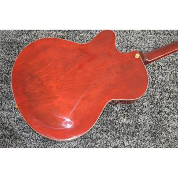 Custom L5 Jazz CES Archtop Semi Hollow Electric Guitar Wine Red