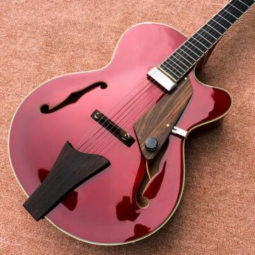 Custom L5 Jazz CES Archtop Semi Hollow Electric Guitar Burgundy