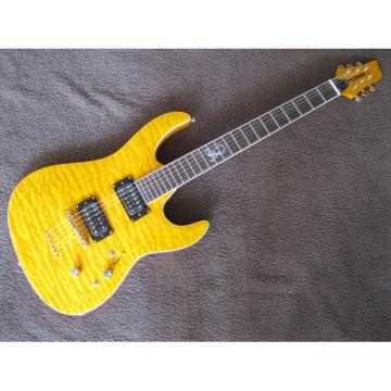 Custom Kepoon Yellow Patent B Electric Guitar