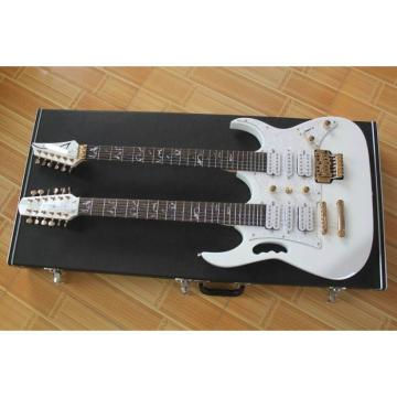 Custom JEM7V White Double Neck 6/12 Strings Electric Guitar