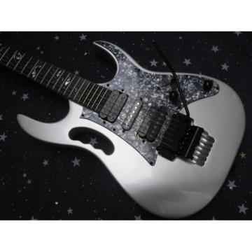 Custom Ibanez Silver Jem7v Electric Guitar