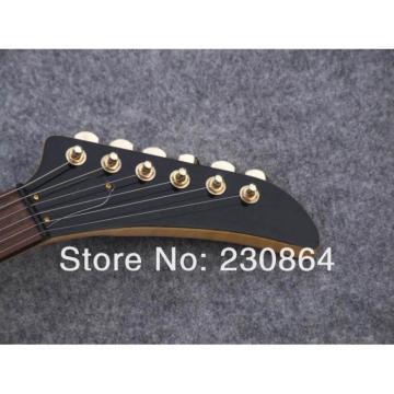 Custom Firebird Burl Maple Top Explorer Electric Guitars Gold Tuners