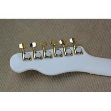 Custom Fhole Telecaster Tremolo White Electric Guitar