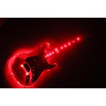 Custom Crystal Red Led Acrylic Stratocaster Electric Guitar