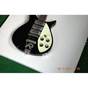 Custom Built Rick 330 Black Jetglo Electric Guitar