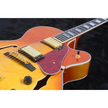 Custom Classic L5 Jazz Hollow Body Byrdland Electric Guitar Sunburst