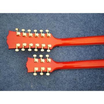 Custom Don Felder EDS 1275 SG Sunburst Double Neck Black Electric Guitar