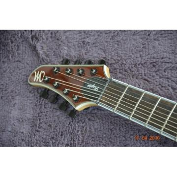 Custom Built Mayones Regius 8 String Brown Electric Guitar