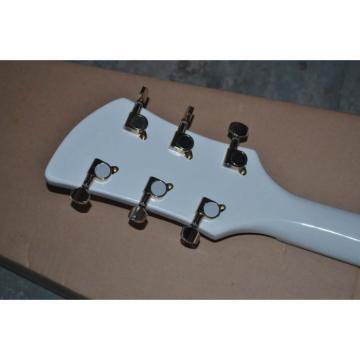 Custom Built Hollow Body Rick 330 White Electric Guitar
