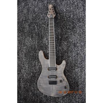 Custom Built Mayones Regius 7 String Electric Guitar Gray Tiger Maple Top