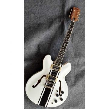 Custom Build Tom Delonge ES333 White Electric Guitar