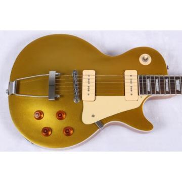 Custom Build 1952 LP Gold Top Electric Guitar Trapeze Tailpiece