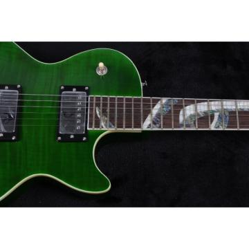 Custom Build Green Abalone Snakepit Slash Inlay Fretboard Electric Guitar