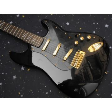 Custom Black Fender Stratocaster Electric Guitar