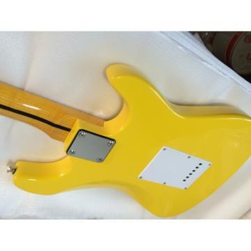 Custom American Stratocaster Yellow Monaco Electric Guitar