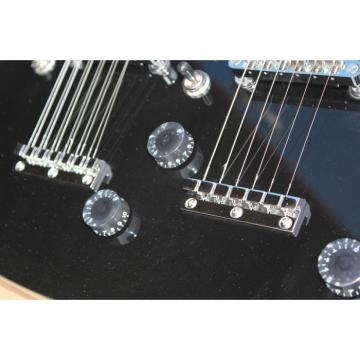Custom Black Don Felder EDS 1275 SG Double Neck Electric Guitar Jimmy Page