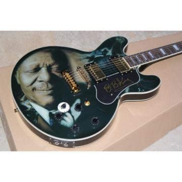 Custom BB King Lucille Printed Black Electric Guitar