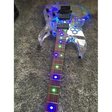 Custom Acrylic Multi Color Led Light Electric Guitar Sculpture Design