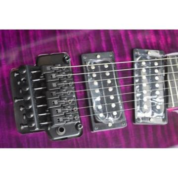 Custom 7 Strings Puerto Rico Flame Purple Electric Guitar