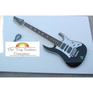 Custom 7 Strings Ibanez Jet Black Jem Electric Guitar