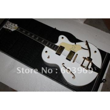 Custom 6120 White Setzer Nashville Electric Guitar