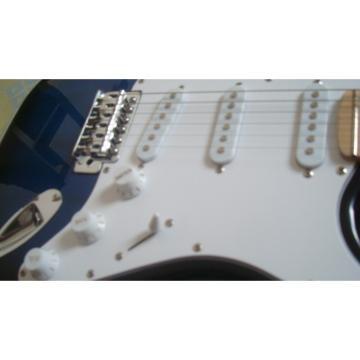 Custom American Fender Blue Black Electric Guitar