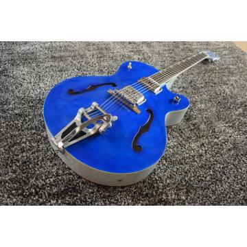 Custom 6120 Blue Tiger Maple Top Gretsch 6 String Electric Guitar