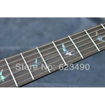 Custom Amber Bird Fretboard PRS Electric Guitar Gold Hardware