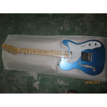 Custom American Fender Fhole Blue Electric Guitar Thinline