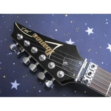 Custom 6 Strings Ibanez Jet Black Jem Electric Guitar