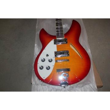 Custom Shop Rickenbacker 330 Left Handed Quilted Fireglo Guitar