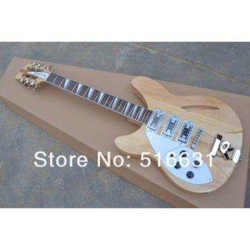 Custom 12 Strings Natural Rickenbacker 330 Left Handed Electric Guitar