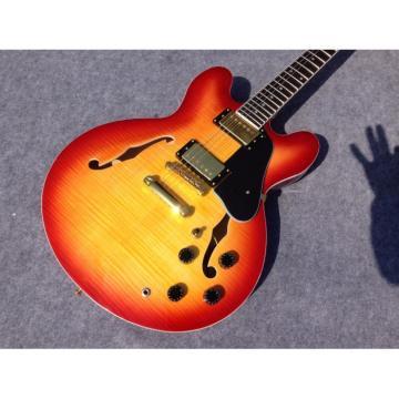 Custom 1960 ES 335 Cherry Sunburst Tiger Maple Jazz Electric guitar