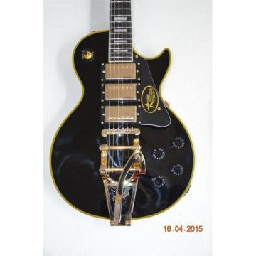 Custom 1957 3 Pickup Bigsby VOS Black Beauty Electric Guitar