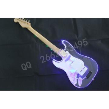 Crystal Acrylic Stratocaster Electric Guitar