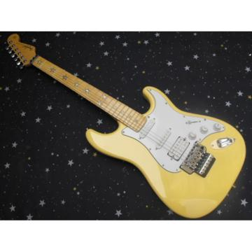 Cream Fender Stratocaster Electric Guitar Floyd Rose Tremolo