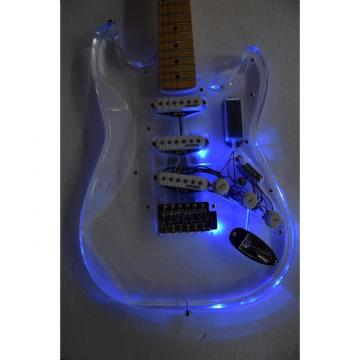 Crystal Multi Color Led Clear Acrylic Stratocaster Electric Guitar