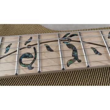 Crystal Ibanez Green Led Light Acrylic Plexiglass Electric Guitar