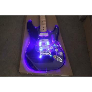 Crystal Blue Led Acrylic Stratocaster Electric Guitar