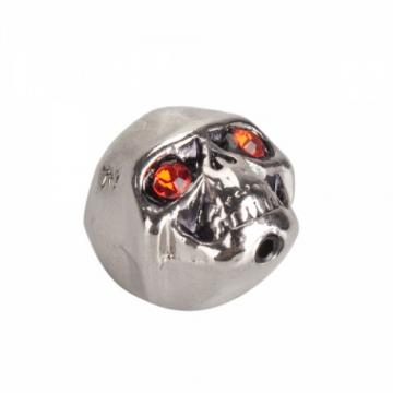 3Pcs Electric Guitar Skull Volume Knobs Silver