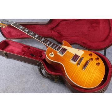 Custom Yellow Burst Maple Top Electric Guitar