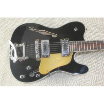 Custom Shop Telecaster Tremolo Black F-hole Electric Guitar