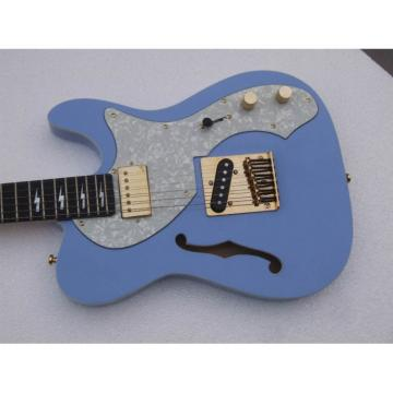 Custom Shop Telecaster Fhole Lake Placid Blue Electric Guitar Thinline